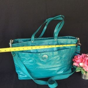 Coach Turquoise Blue Diaper Bag